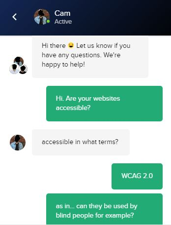 Another dialogue with a Customer Service Representative