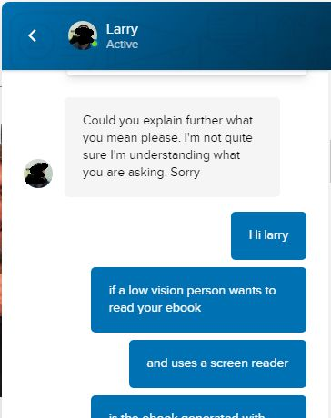 Instant messenger dialogue with customer support representative - continuation